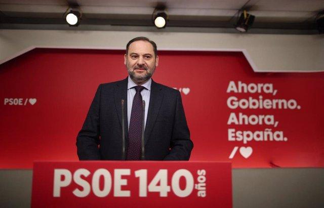 Archivo - El secretario de Organización del PSOE, José Luis Ábalos.