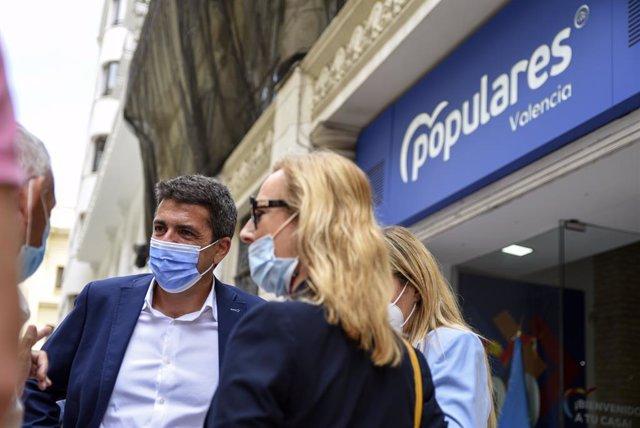 El president de la Diputació d'Alacant i únic candidat a presidir el PPCV, Carlos Mazón, en imatge d'arxiu
