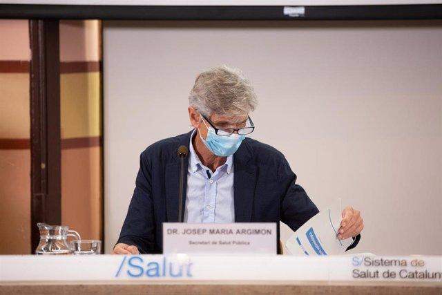 Archivo - El conseller de Salud de la Generalitat, Josep Maria Argimon, en una imagen de archivo.