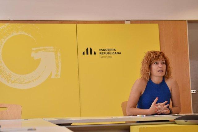 La portaveu adjunta d'ERC a l'Ajuntament de Barcelona, Elisenda Alamany.