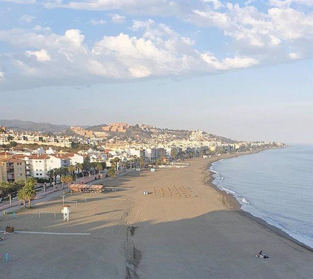Playa del municipio malagueño de Rincón de la Victoria