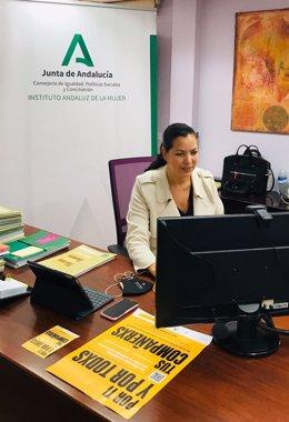 Archivo - La asesora de programa del IAM en Huelva, María Martín.
