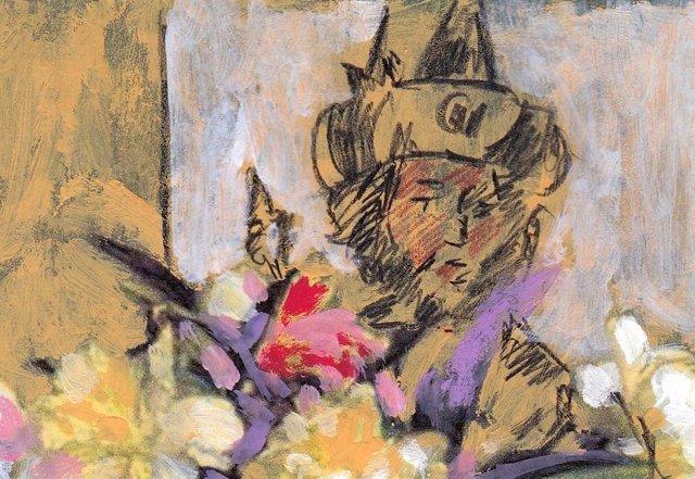 Archivo - Fragmento de obra pictórica de Miguel Elías que representa al Rey David
