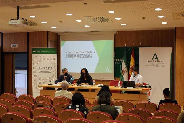 Presentación en Huelva del Plan estratégico para la igualdad de mujeres y hombres.