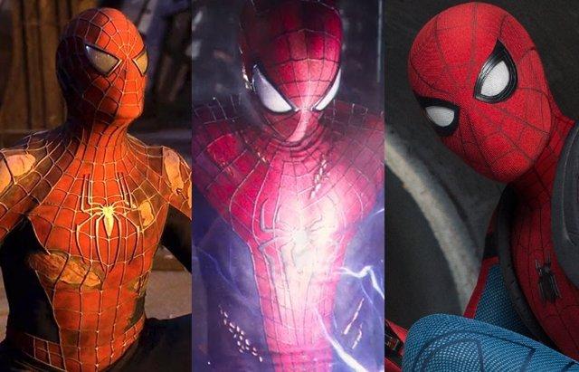 Archivo - Los tres Spider-Man forman parte del Universo Cinematográfico Marvel