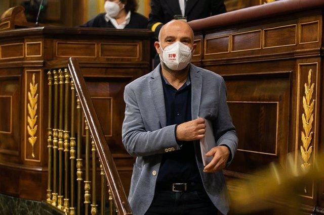 El diputado del BNG en el Congreso Néstor Rego