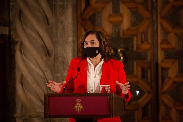 Archivo - Arxivo - L'alcaldessa de Barcelona, Ada Colau. Foto d'arxiu.