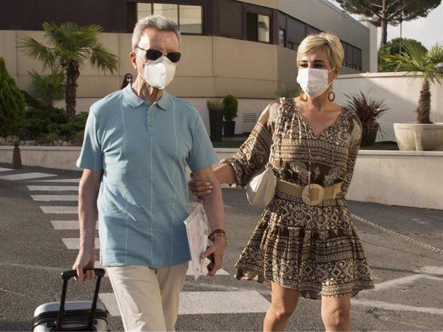 José Ortega Cano y Ana María Aldón a su llegada al hospital