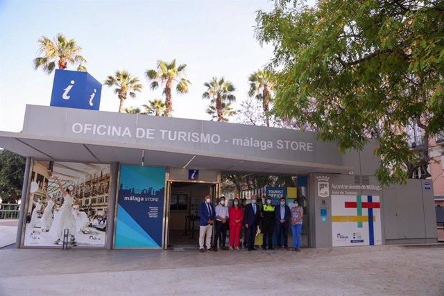 Oficina de Información Turística de Málaga capital, en la plaza de la Marina