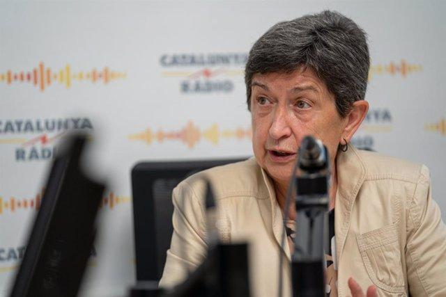 La delegada del Govern espanyol, Teresa Cunillera, en una entrevista a Catalunya Ràdio.