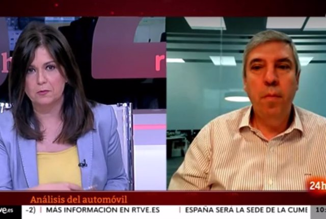 José Vicente de los Mozos en una entrevista en el canal 24h de RTVE.