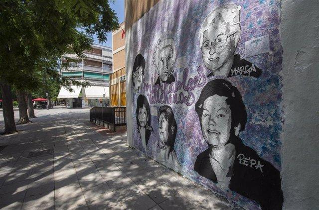 Mural feminista en Villa de Vallecas