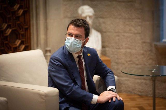 Arxiu - El president de la Generalitat, Pere Aragonès.