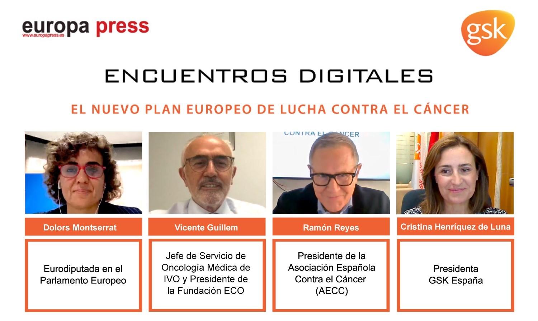 Intervinientes en el Encuentro Digital 'El nuevo plan europeo de lucha contra el cáncer'
