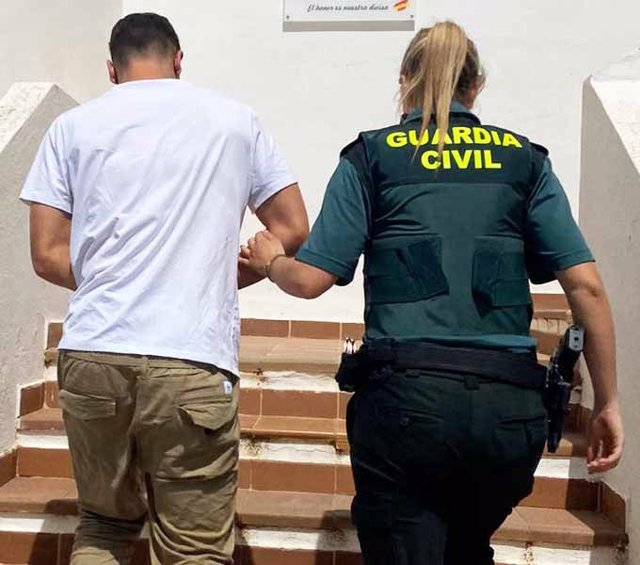 El detenido por tráfico de drogas en Santa Eulària.
