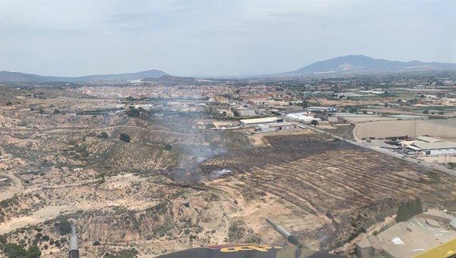 Incendio declarado en Totana