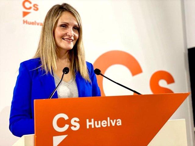 La coordinadora de Cs en Huelva y diputada provincial, María Ponce.