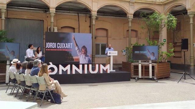 Roda de premsa d'Òmnium Cultural sobre el recurs de Jordi Cuixart davant el TEDH.