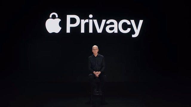 El CEO de Apple, Tim Cook, habla sobre las herramientas de privacidad de iOS 15 y iPadOS 15 en el Steve Jobs Theater