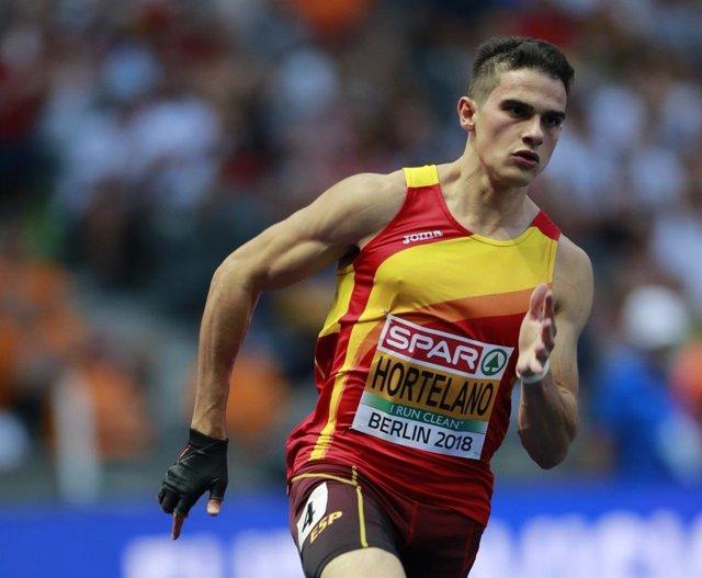 Archivo - El atleta español Bruno Hortelano