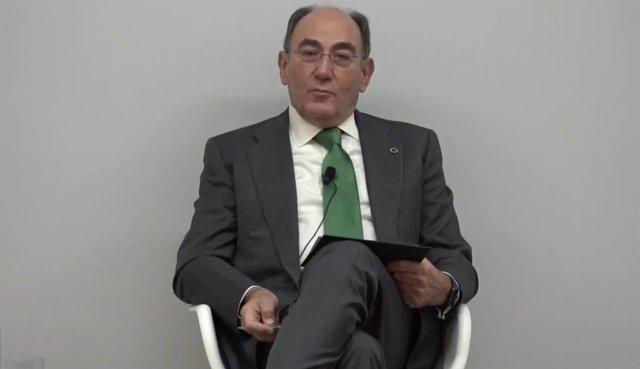 Archivo - El presidente de Iberdrola, José Ignacio Sánchez Galán, en eI Foro del Observatorio Mapfre de Finanzas Sostenibles.