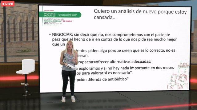 Mariam de la Poza en congreso SEMG