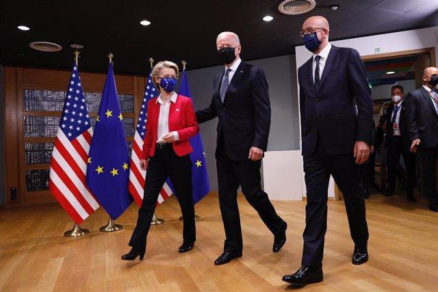 Ursula von der Leyen, Joe Biden y Charles Michel