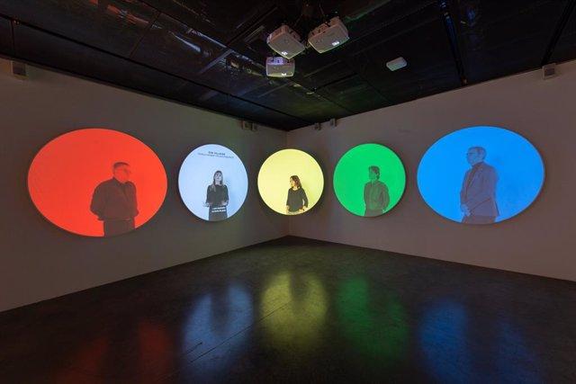 Exposición del color en la Fundación Telefónica