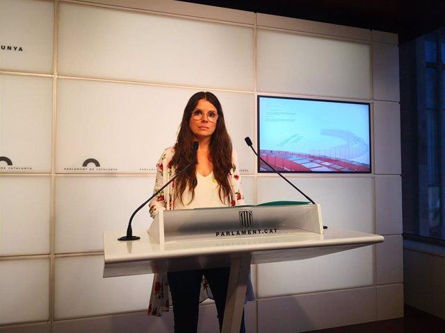 La portaveu de Junts al Parlament, Mònica Sales.