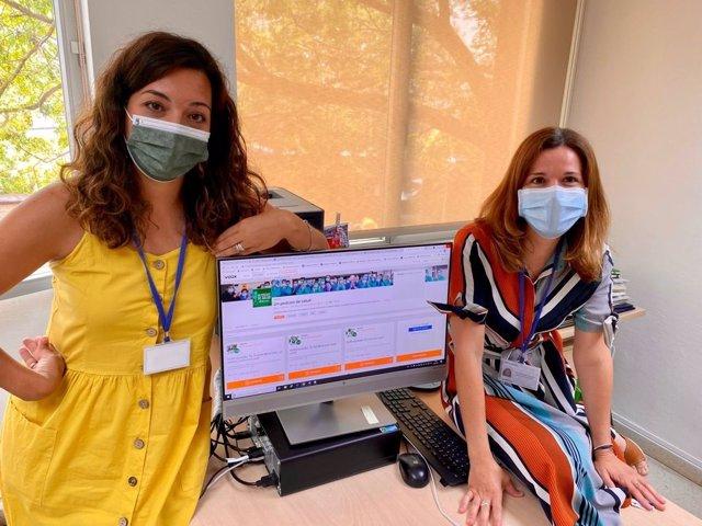 Montemayor Mora y Gema Timón, periodistas de la Unidad de Comunicación del Hospital Universitario Reina Sofía de Córdoba.