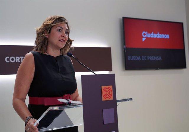 La portavoz de Sanidad del grupo de Ciudadanos en las Cortes de Aragón, Susana Gaspar.