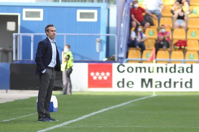 Jorge Vilda durante el amistoso entre España y Dinamarca