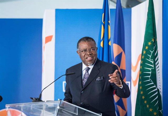 Archivo - El presidente de Namibia, Hage Geingob
