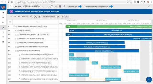 Software en la nube para planificación de obras.