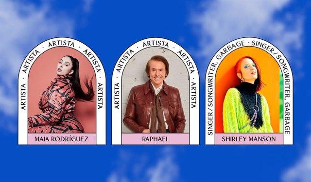 Mala Rodríguez, Raphael y Shirley Manson, de Garbage, en el BIME PRO 2021