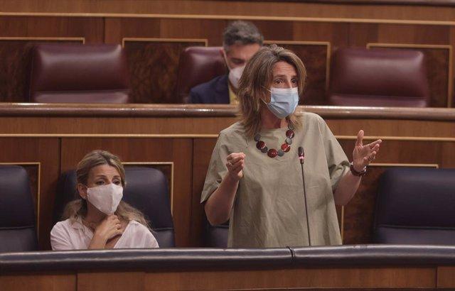 La vicepresidenta quarta i ministra per a la Transició Ecològica i Repte Demogràfic, Teresa Ribera.