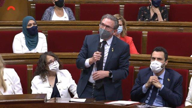 El conseller d'Economia de la Generalitat, Jaume Giró, al Parlament.