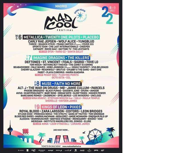 Cartel de la edición de Mad Cool 2022