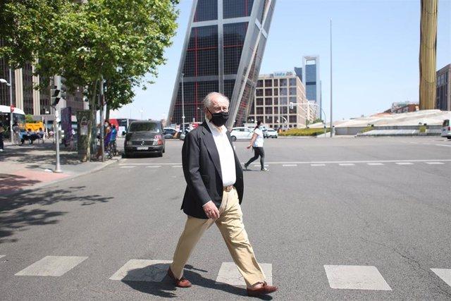 El ex ministro de Economía Rodrigo Rato a su salida de los Juzgados de Plaza Castilla.