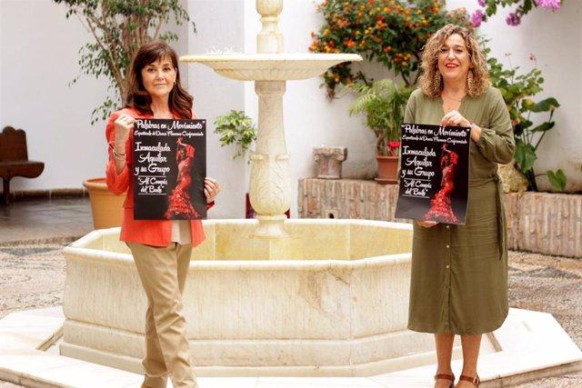 La delegada de Cultura en la Diputación de Córdoba, Salud Navajas (dcha.), en la presentación del ciclo 'Al compás del baile'.
