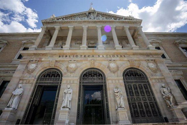 Archivo - Fachada de la Biblioteca Nacional de España (BNE)