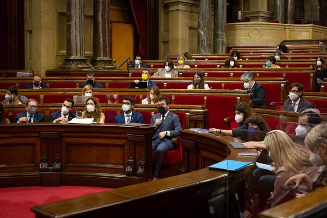 Pleno del Parlament. Foto de archivo