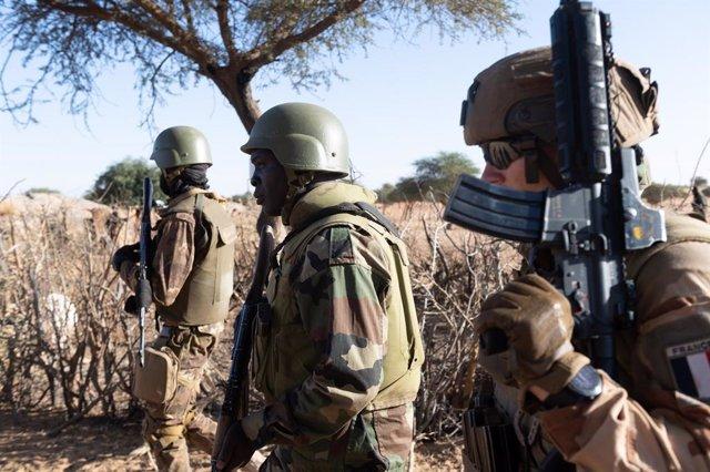 Archivo - Militar francés de la Operación Barkhane en Malí