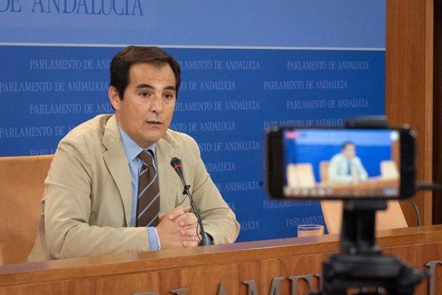 El portavoz parlamentario del PP-A, José Antonio Nieto, en una foto de archivo.