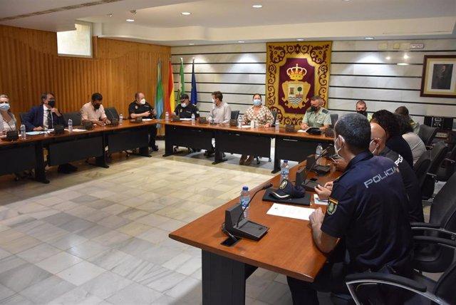 Junta local de seguridad en el Ayuntamiento de Punta Umbría.