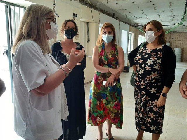 Visita a las obras en el centro de salud Virgen de la Capilla.