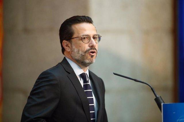 Archivo - El consejero en funciones de Hacienda en la Comunidad de Madrid, Javier Fernández-Lasquetty