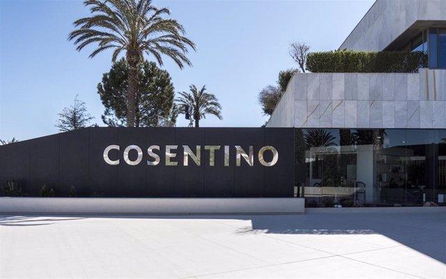 Archivo - Entrada a la sede del Grupo Cosentino en Cantoria (Almería)