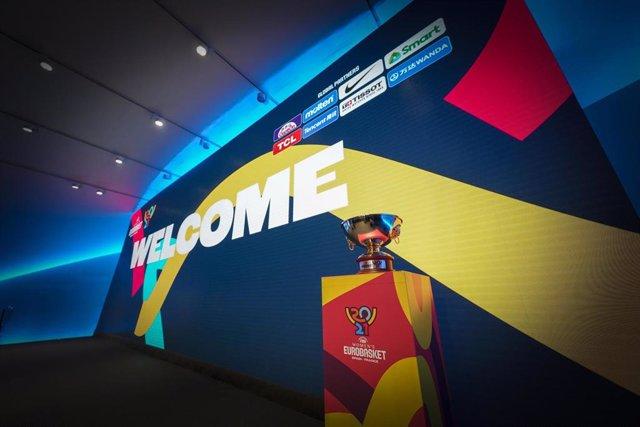 Archivo - Sorteo del Eurobasket de Valencia