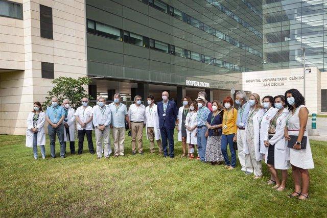 El Hospital Clínico San Cecilio de Granada reconoce la labor voluntaria de profesionales médicos jubilados en el seguimiento de casos covid.